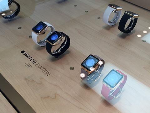Apple Watch Editionの展示