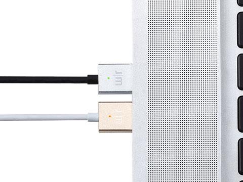 Just Mobile AluCable LED Lightningケーブル (1m)