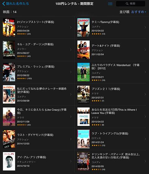 iTunes Store 隠れた名作たち 〜劇場未公開映画のススメ