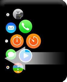 Apple Watchのホーム画面をスワイプ