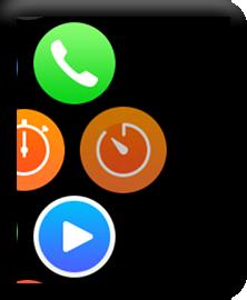 デジタルクラウンを回してアプリを起動する