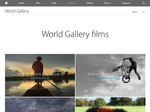 Apple – iPhone 6 – World Gallery films