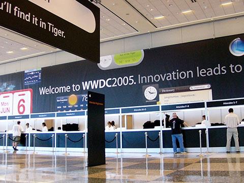 WWDC 2005の会場