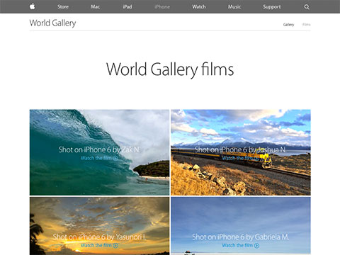 Apple – iPhone 6 – World Gallery films