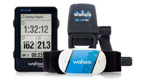 Wahoo Fitness サイクルコンピュータ「RFLKT+ for iPhone」&「TICKR Run」&「Blue SC」セット