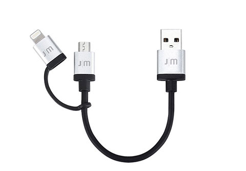 AluCable Duo mini Lightning & microUSBケーブル (0.1m)