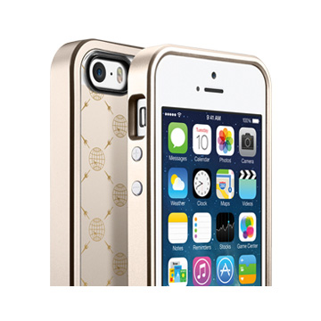 iPhone 5/5s用TRANS CONTINENTS for リニア シャンパン・ゴールド コラボモデル