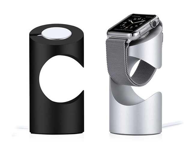Just Mobile TimeStand for Apple Watch ブラックとシルバー