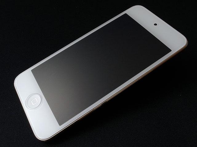 iPod touch用ガラスフィルム GLASS PRO+を貼ったところ