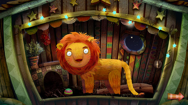 起きているライオン