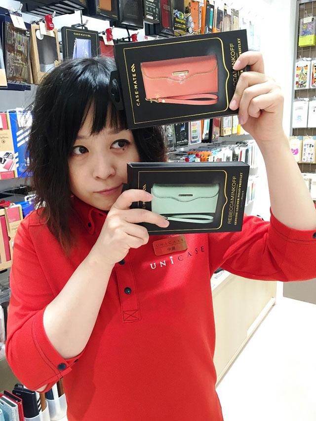 【iPhone 6s/6 ケース】REBECCAMINKOFF Leather Folio Wristlet