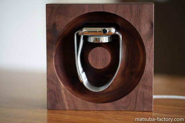 松葉製作所 木製Apple Watch充電台