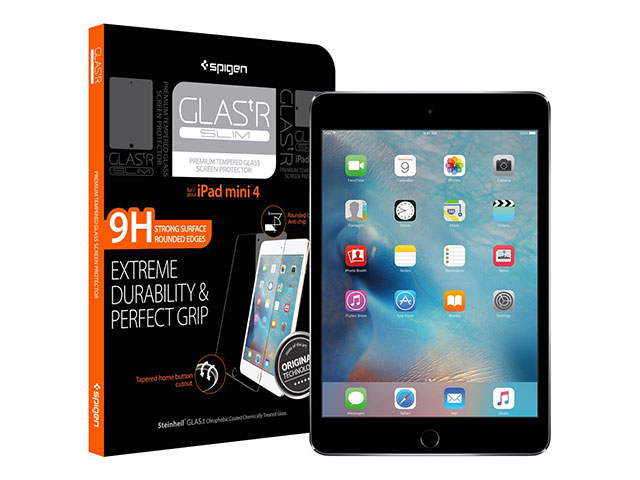Spigen iPad mini 4ガラスフィルム GLAS.tR SLIM
