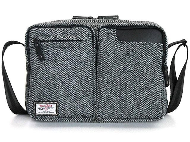 タブレットのための小型ショルダーバッグ ハリスツイード別注モデル