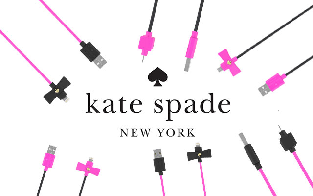 【kate spade new york】 Bow Charge/Sync Cable - Captive Lightning