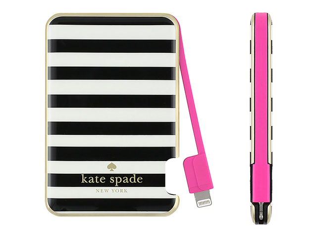 【kate spade new york】 Slim Charging Battery Bank - Captive Lightning / 1500mAh
