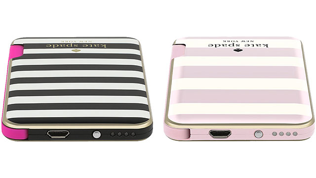 【kate spade new york】 Slim Charging Battery Bank - Captive Lightning / 1500mAh