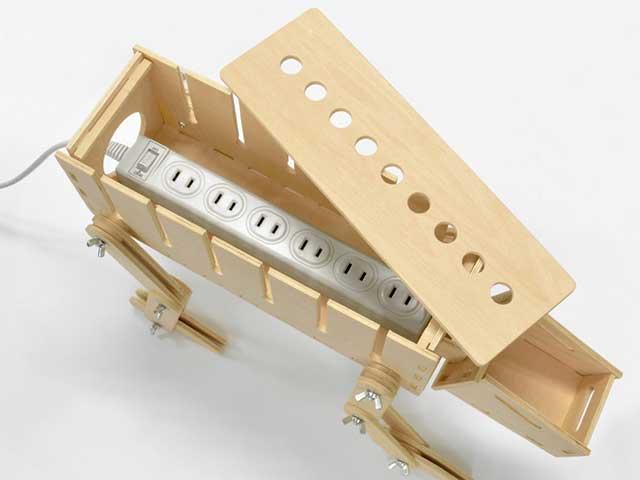 組み立て式 犬型電源タップボックス よろしく犬Dock