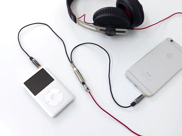 ケーブル型ヘッドフォンミキサー DJ-7AF