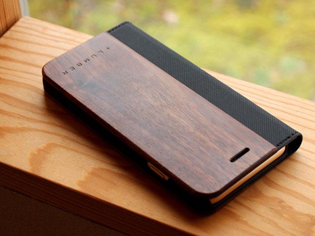 +LUMBER iPhone 6/6s用手帳型木製ケース