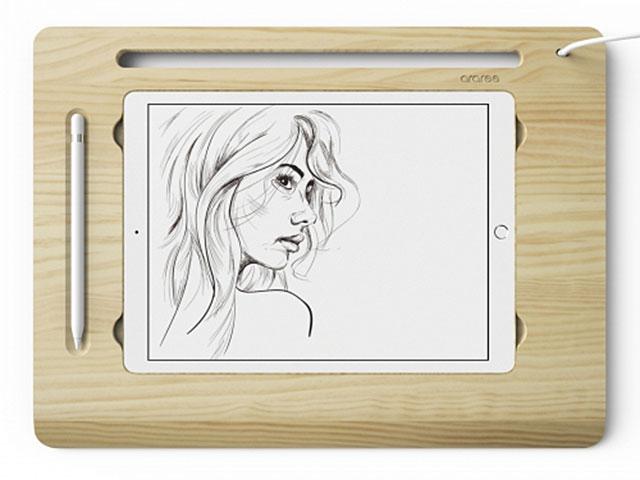 iPad Pro スタンド araree 天然木 Flat Board