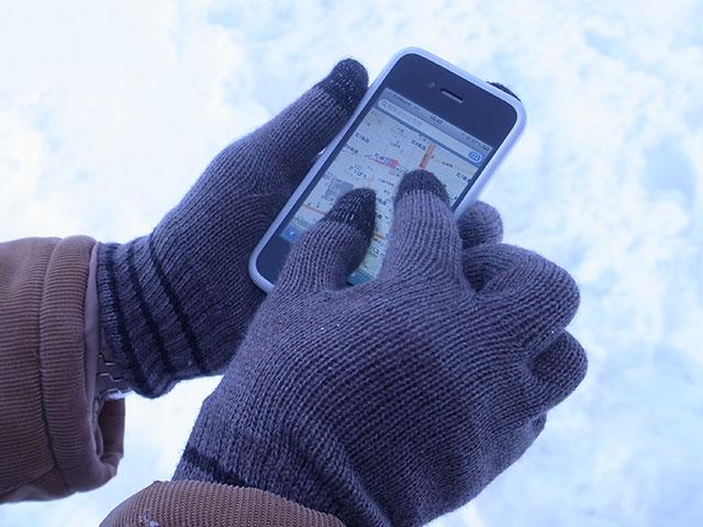 冬のiPhone