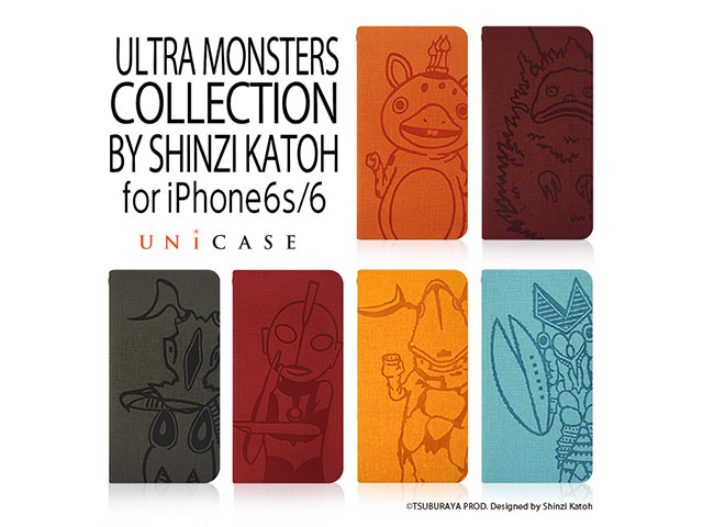 ULTRA MONSTERS COLLECTION BY SHINZI KATOH ウォレットケース for iPhone 6s/6