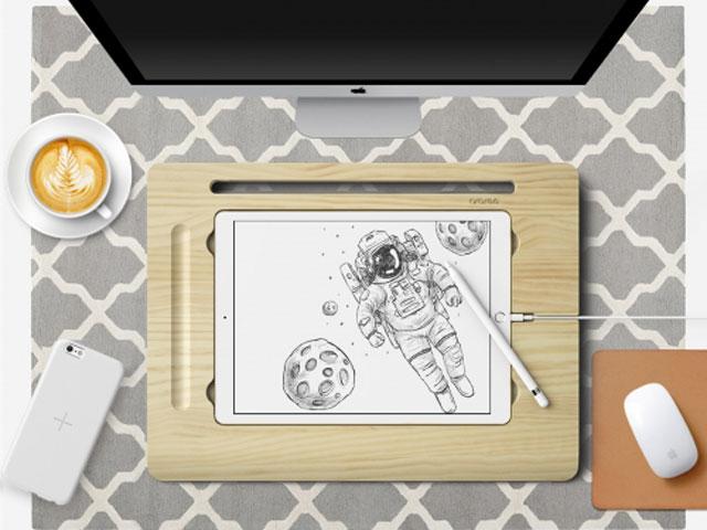 araree 12.9インチ iPad Pro 天然木 Flat Board 2