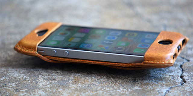 Roberu iPhone SE All Leather Case