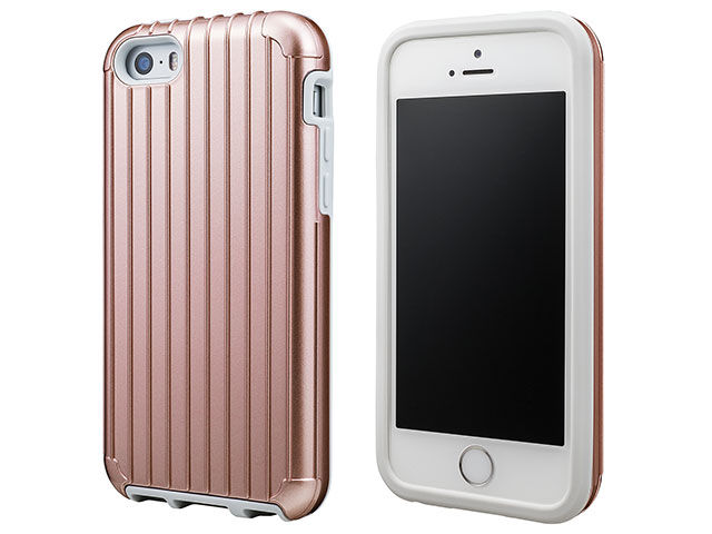 "GRAMAS COLORS ""Rib"" Hybrid case CHC416 for iPhone SE/5s/5c/5"
