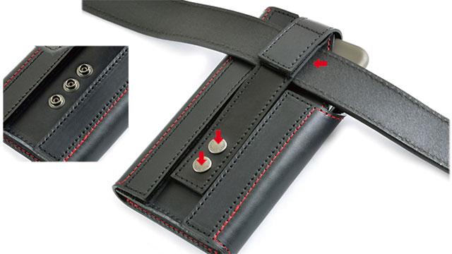 バンナイズ ぬめ革の縦型キャリングケース