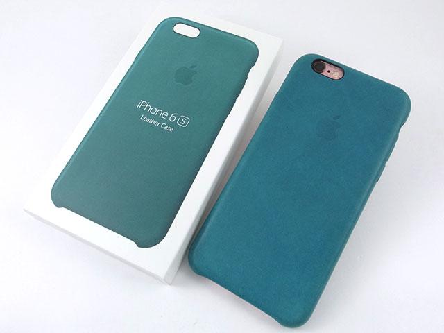 iPhone 6sレザーケース マリンブルー
