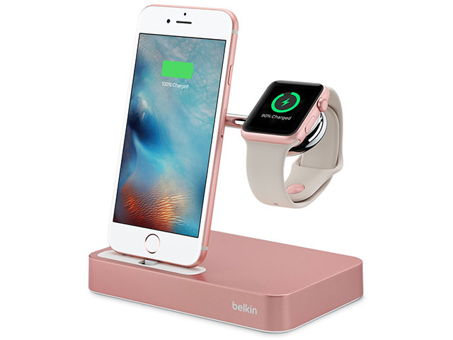 Belkin Valet Charge Dock for Apple Watch + iPhone ピンク