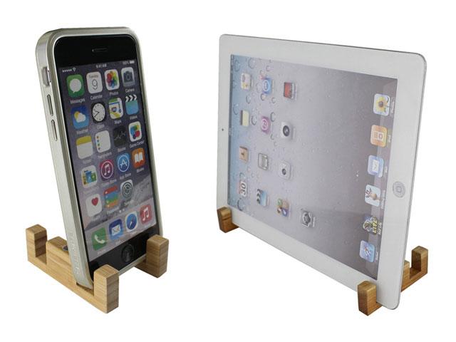 GauGau SmartPhone & Tablet Minimalist Wood Stand
