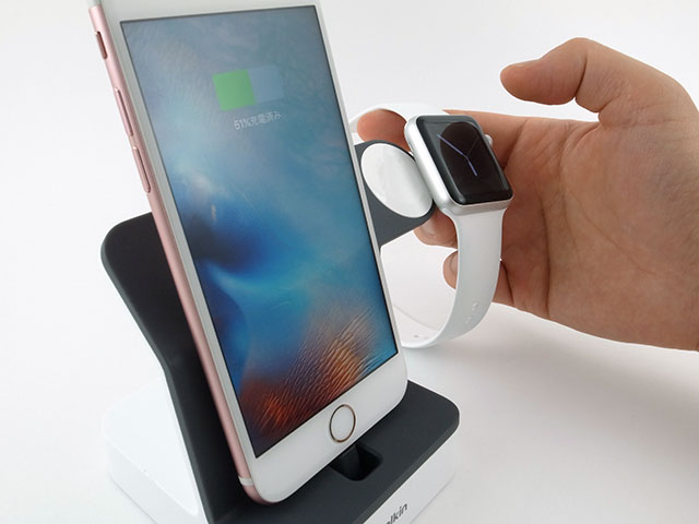 ベルキン PowerHouse Charge Dock for Apple Watch + iPhone