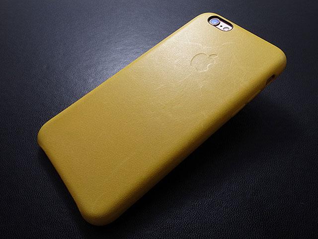 iPhone 6sレザーケース マリーゴールド