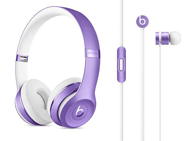 Beats Solo3 Wirelessオンイヤーヘッドフォン/urBeatsイヤフォン ウルトラバイオレットコレクション
