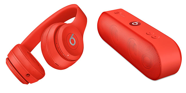 Beats Solo3 Wirelessオンイヤーヘッドフォン/Pill+ ポータブルスピーカー – (PRODUCT)RED