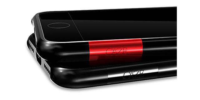 CAZE iPhone 7用 ThinEdge frame case ジェットブラック