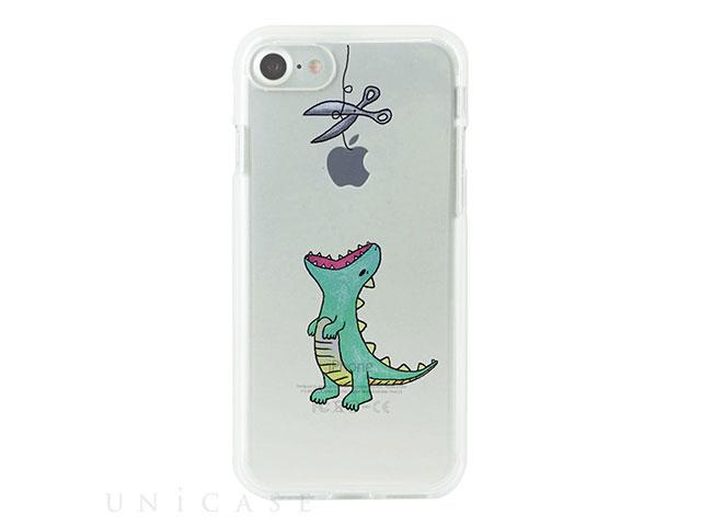 【iPhone 7 ケース】ソフトクリアケース (はらぺこザウルス/グリーン)