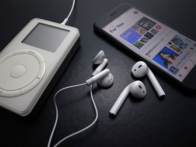 iPodとiPhone/AirPods