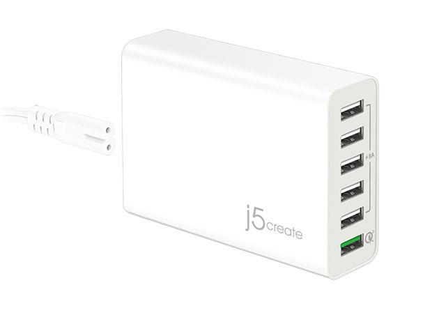 JUP60 59.5W 6ポート USB急速充電器