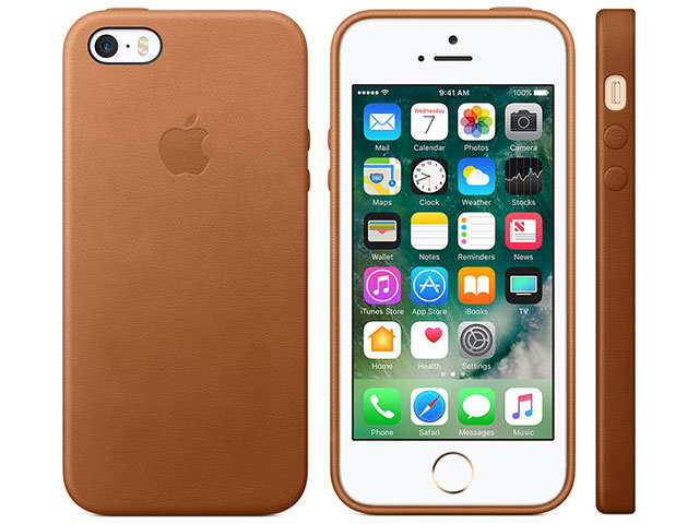 iPhone SEレザーケース サドルブラウン