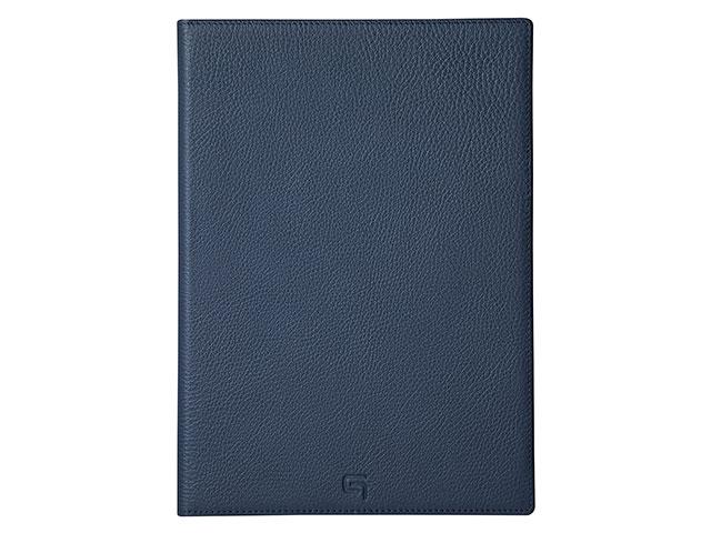 GRAMAS Shrunken-calf Full Leather Case for iPad 9.7 Navy