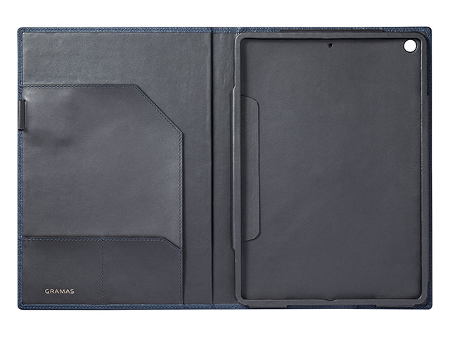 GRAMAS Shrunken-calf Full Leather Case for iPad 9.7 Navy