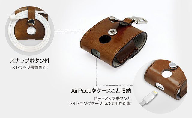 HANSMARE ITALY LEATHER AirPods CASE