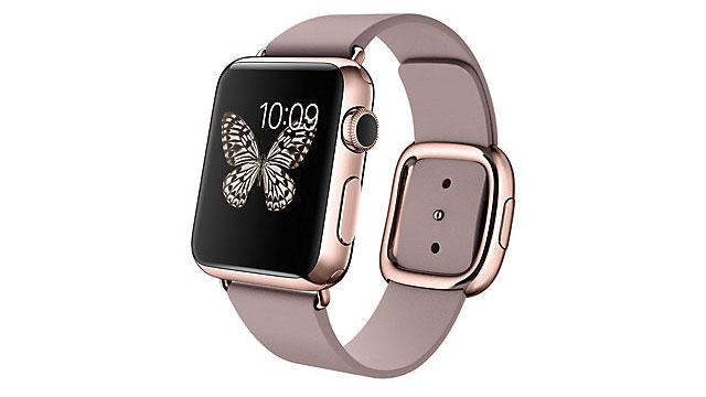Apple Watch Edition 38mm 18Kローズゴールドケースとローズグレイモダンバックル
