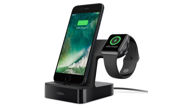ベルキン PowerHouse Charge Dock for Apple Watch + iPhone ブラック