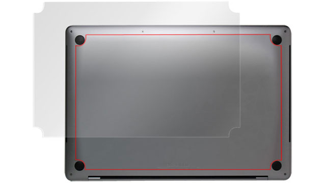 OverLay Plus for MacBook Pro 13インチ/15インチ (2017/2016) 裏面用保護シート