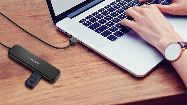 Spigen F101 4ポート ウルトラスリム USB 3.1 ハブ
